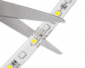 Outdoor LED Strip with Multi Color + White LEDs - Weatherproof LED Tape Light with 18 SMDs/ft., 3 Chip RGBW SMD RGB 5050: Strip May Be Cut At Indicated Scissor Markings