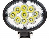 """5.75"""" Oval 27W Heavy Duty High Powered LED Work Light: Front View"""