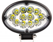 "6"" Oval 36W Heavy Duty High Powered LED Work Light: Front View"