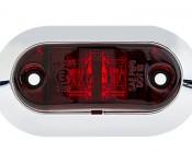 "Oval LED Truck Trailer Light with Chrome Bezel - 3-1/4"" LED Marker Clearance Light with 2 LEDs"