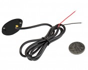 Oval LED Accent Light Module w/ 6 LEDs - Black: Back View