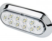 "Oval LED Truck Trailer Light with Built In Flange - 6"" LED Reverse Light with 10 LEDs"