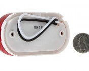 """Oval LED Truck Trailer Light - 4"""" LED Marker Clearance Light with 13 LEDs: Back View With Size Comparison"""