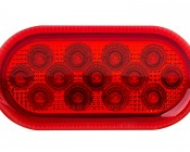 """Oval LED Truck Trailer Light - 4"""" LED Marker Clearance Light ith 13 LEDs: Front View"""