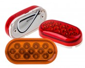 """Oval LED Truck Trailer Light - 4"""" LED Marker Clearance Light with 13 LEDs: Available In Red & Amber"""