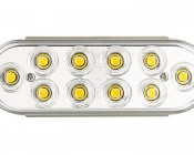 PT series Oval High Powered Reverse LED Truck Lamp: Front View