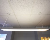Up/Down LED Panel Light Junction Box Hanging Kit: Using Two Kits to Install in Drop Ceiling