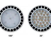 PAR30 LED Bulb, 40W: Front Views of 180° & 36°