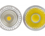 PAR16 High Power COB LED Bulb, 4W: Front View.