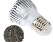 PAR16 High Power COB LED Bulb, 4W: Back View.