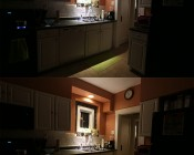 PAR20 LED Bulb - 7 Watt - Dimmable LED Spotlight Bulb: Shown Installed In Kitchen Can Light In Natural White (Top) And Warm White (Bottom).