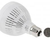 PAR30 LED Bulb, 30W: Back View With Size Comparison