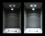 PAR30 LED Bulb, 30W: On Showing Comparison Of 17° And 36° Beam Patterns In Natural White.
