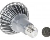 PAR30 LED Bulb, 9W: Back View With Size Comparison