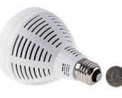 PAR30 LED Bulb, 40W: Back View with Size Comparison