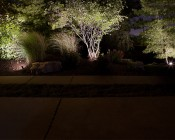 Weatherproof PAR36 LED Bulb - 70 Watt Equivalent - Screw-Pin LED Flood Bulb: Installed in Subdivision Entrance Landscaping