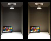 PAR38 LED Bulb - 100 Watt Equivalent - Dimmable LED Spotlight Bulb - 1,000 Lumens: Illuminated in Box Natural White (Left) and Warm White (Right)