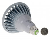 PAR38 Outdoor LED Bulb - 150 Watt Equivalent Weatherproof LED Flood Light Bulb - 1,500 Lumens: Back View