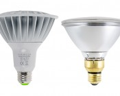 PAR38 Outdoor LED Bulb - 150 Watt Equivalent Weatherproof LED Flood Light Bulb - 1,500 Lumens: Profile View