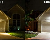 PAR38 LED Bulb, Weatherproof vs Halogen Bulb