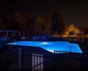 PAR56 LED Bulb - 70 Watt Equivalent - 12 VDC Pool Light: Shown Installed In Swimming Pool.