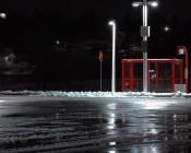 LED Corn Light - 390W Equivalent Incandescent Conversion - E26/E27 Base: Shown Retrofitted In Parking Lot Light Fixtures