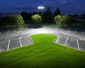 LED Area Light - 300W (850W HID Equivalent) - 5300K - 34,170 Lumens: Installed in Parking Lot