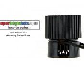 LED Landscape Path Lights - Mini Bollard - 2 Watt: How To Assemble Wire Connector