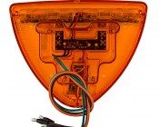 Triangle LED Turn Signal Light for Peterbilt 379 Trucks: Back View