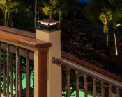 4x4 LED Deck and Fence Post Cap Light with 6x6 Post Adapter - 10 Watt Equivalent - 75 Lumens - Deck Post Illuminated