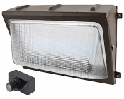 Photocontrol LED Wall Pack - 50W (250W Equivalent) - 5000K/4000K - Up to 6,000 Lumen