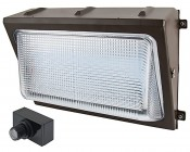 Photocontrol LED Wall Pack - 80W (320W Equivalent) - 5000K/4000K - Up to 10,000 Lumen