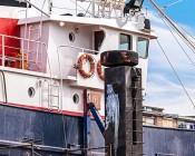 "LED Work Light - 3.25"" Round With White Finish - 12W: Installed on Fishing Boat"