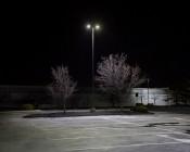 LED Parking Lot Light - 150W (500W HID Equivalent) LED Shoebox Area Light - 5000K - 19,500 Lumens: Illuminated in Parking Lot