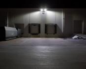 LED Parking Lot Light - 150W (500W HID Equivalent) LED Shoebox Area Light - 5000K - 19,500 Lumens: Illuminated on Wall