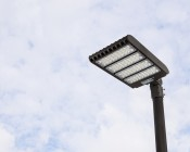 LED Parking Lot Light - 300W (1,000W MH Equivalent) LED Shoebox Area Light - 5000K - 39,000 Lumens: Mounted On Pole