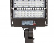 LED Parking Lot Light - 100W (320W/400W MH Equivalent) LED Shoebox Area Light - 5000K - 13,000 Lumens - Front View