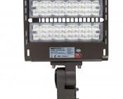 LED Parking Lot Light - 150W (500W MH Equivalent) LED Shoebox Area Light - 5000K - 19,500 Lumens - Front View