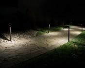 "Landscape LED Path Lights w/ Offset 5"" Square Light Head - 1 Watt - 22 Lumens: Illuminated Pathway"