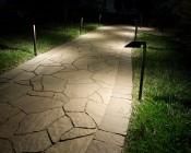 "Landscape LED Path Lights w/ Offset 5"" Square Light Head - 1 Watt - 22 Lumens: Illuminating Pathway"