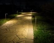 Landscape LED Path Lights w/ Offset Round Copper Light Head - 3 Watt - 95 Lumens: Illuminating Path