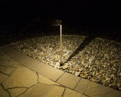 Landscape LED Path Lights w/ Offset Round Copper Light Head - 3 Watt - 95 Lumens: Illuminating Pathway and Rocks