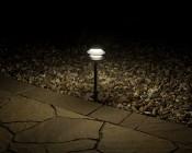 Landscape LED Path Lights w/ Triple Tier Pagoda Style Light Head - 1 Watt - 11 Lumens: Illuminated Between Path And Rocks