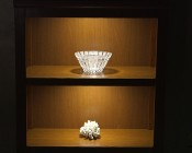 Plug and Play Surface Mount Square LED Puck Light Fixture - SSM series on book shelf