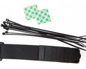 Portable Canopy Tent LED Lighting Kit: Mounting Hardware including 10 Zip Ties, 2 3M Mounting Pads, And A Velcro Band.