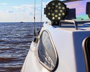 "LED Work Light - 6"" Round - 51W: Attached to Boat"