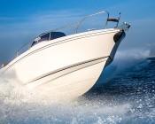 "LED Boat Light - 6"" Oval Spot or Spreader Light - 15W: Installed on Boat Rail"