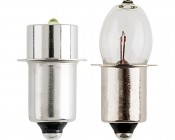 3 Watt Flashlight Bulb: Profile View