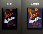 Ultra-Thin LED Light Box w/ Snap-Open Frame: Print Vs. LED Light Box