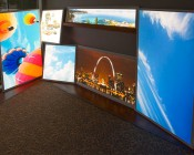 Custom Printed Even-Glow LED Panel Light - Dimmable - 2' x 2':Showing Our Three Sizes Of Custom Print Panels.